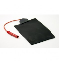 Electrodo Silicona  50 x 100 mm Reusable 4mm Hembra con cable 15cm.